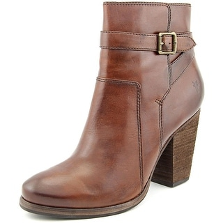 Frye Patty Riding Bootie Women  Round Toe Leather Brown Ankle Boot