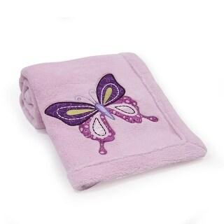Lambs & Ivy Butterfly Lane Blanket - Pink, Purple, Butterfly, Butterfly, Girl