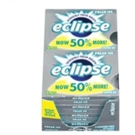 Eclipse Sugar Free Gum Polar Ice 8 packs (18 ct per pack)