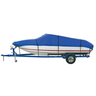 """Dallas Manufacturing Co. Custom Grade Polyester Boat Cover A 14'-16' V-Hull Fishing Boats-Beam width to 68"""" - BC3201A"""