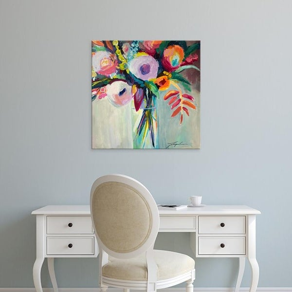 Easy Art Prints Jacqueline Brewer's 'Ode to Summer 7' Premium Canvas Art