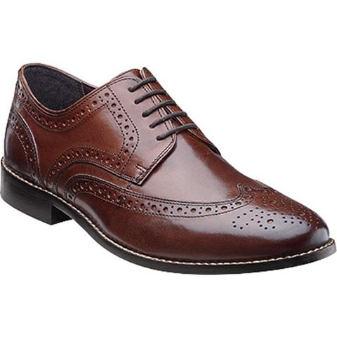 Nunn Bush Men's Nelson 84525 Wing Tip Oxford Brown Leather