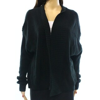 Free Press NEW Black Women Small S Textured Open Cardigan Sweater