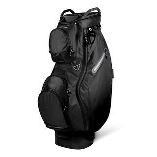 New 2019 Sun Mountain Phantom (No Logo) Cart Bag (Black) - CLOSEOUT - Black