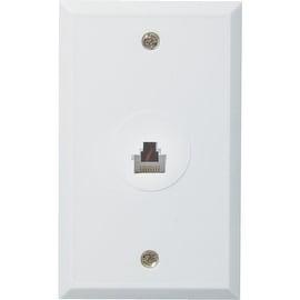 RCA Rj45 Wht Flush Wall Jack