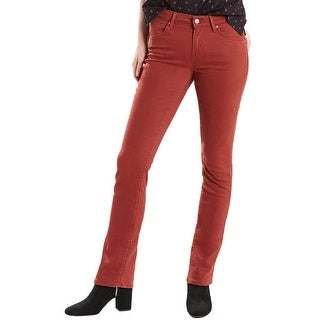 Levis Womens Mid-Rise Skinny Jeans 33x32 Fire Brick 16M