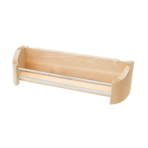 """14 in Wood Door Storage Tray - 13.75""""W x 4.25""""D x 3.63""""H"""