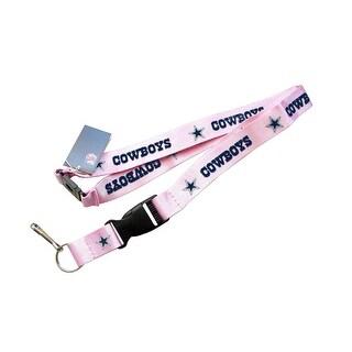 Dallas Cowboys Clip Lanyard Keychain Id Ticket - Pink