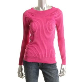 Grane Womens Marilyn Ribbed Knit Boatneck Pullover Sweater - M