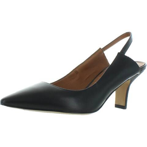 Franco Sarto Womens Dynasty Slingback Heels Cushioned Footbed Pumps