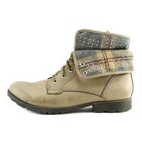 ROCK & CANDY Womens SPRAYPAINT Closed Toe Ankle Combat Boots