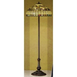 Meyda Tiffany 29511 Stained Glass / Tiffany Floor Lamp from the Tiffany Edwardian Collection