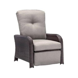 Hanover Outdoor STRATHRECSLV Strathmere Luxury Recliner in Silver Lining - Grey