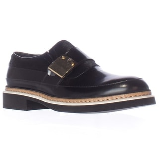 Alexander McQueen Chatsworth Studded Loafers, Black