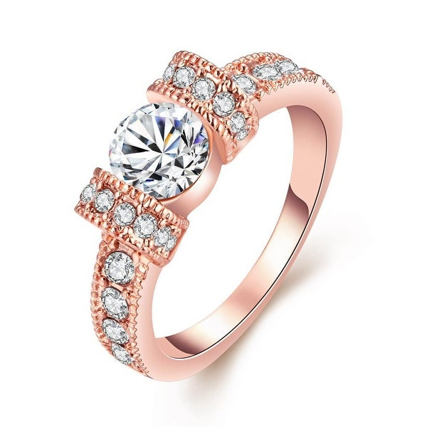 Rose Gold-Plated Italian-Cut Eternity Ring