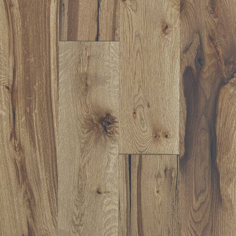 """Shaw SW661 Reflections White Oak 7"""" Wide Wire Brushed Engineered"""
