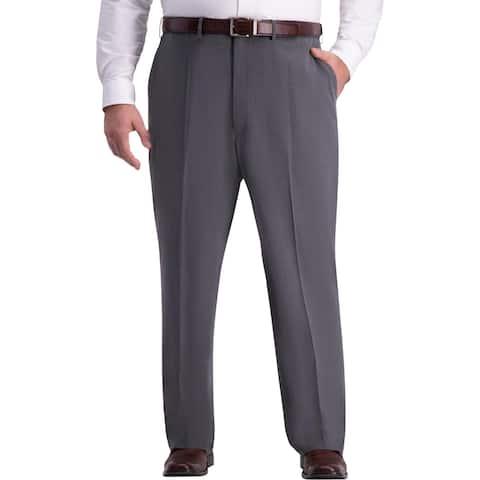 J.M. Haggar Mens Big & Tall Dress Pants Classic Fit Office