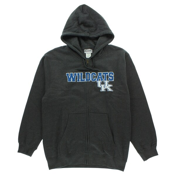 new arrival 369c8 755ab Shop Majestic Mens Kentucky Wildcats Cotton Full Zip Hoodie Heather  Charcoal - heather charcoal blue white - L - On Sale - Free Shipping On  Orders Over  45 ...