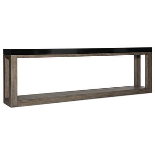 "Hooker Furniture 638-85425  Vienna 17"" Long Oak and Rubberwood Console Table from the Melange Collection - Black / Brown"