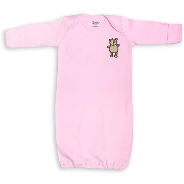 8af0d3d0cd8f8 Shop Spencers 710-1-PI Pink Infant Gown with Mitten Cuffs - 0-6 Months - Free  Shipping On Orders Over  45 - Overstock.com - 26065206