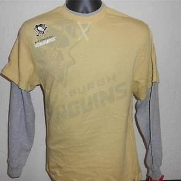 Shop Pittsburgh Penguins Youth Large (14 16) Long Sleeved Reebok Shirt 35Uq  - Free Shipping On Orders Over  45 - Overstock.com - 23065607 6835c36dc