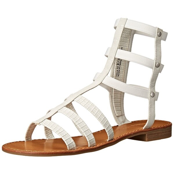 Chinese Laundry Women's Gear up Gladiator Sandal, White Lizard, Size 5.5