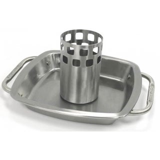 Broil King 69133 Chicken Roaster With Pan, Stainless Steel
