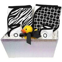 "Raindrops Unisex Baby ""Wild About Prints"" 6-Piece Hooded Towel Set, Black Zebra One Size - One size"