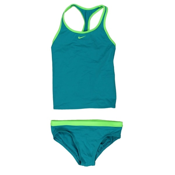 6a3d029f994e6 Shop Nike Girls Racerback Tankini Swimsuit - Free Shipping On Orders Over   45 - Overstock - 15076559