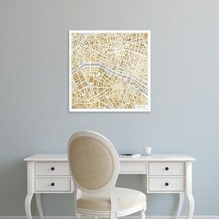 Easy Art Prints Laura Marshall's 'Gilded Paris Map' Premium Canvas Art