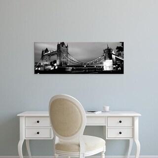 Easy Art Prints Panoramic Images's 'Tower Bridge, London, United Kingdom' Premium Canvas Art