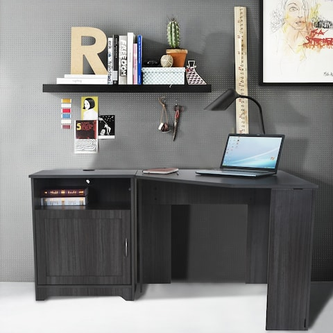 FOUNDATION Corner Desk with Storage Cabinet