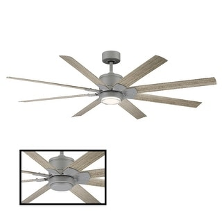 Renegade Indoor and Outdoor 8-Blade Smart Ceiling Fan 66in with 3000K LED Light Kit and Remote Control with Wall Cradle