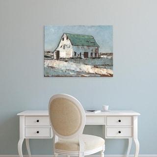 Easy Art Prints Ethan Harper's 'Plein Air Barn II' Premium Canvas Art