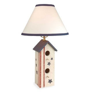 Table Lamp Country Pine Wood Birdhouse Lamp 22 Renovator's Supply