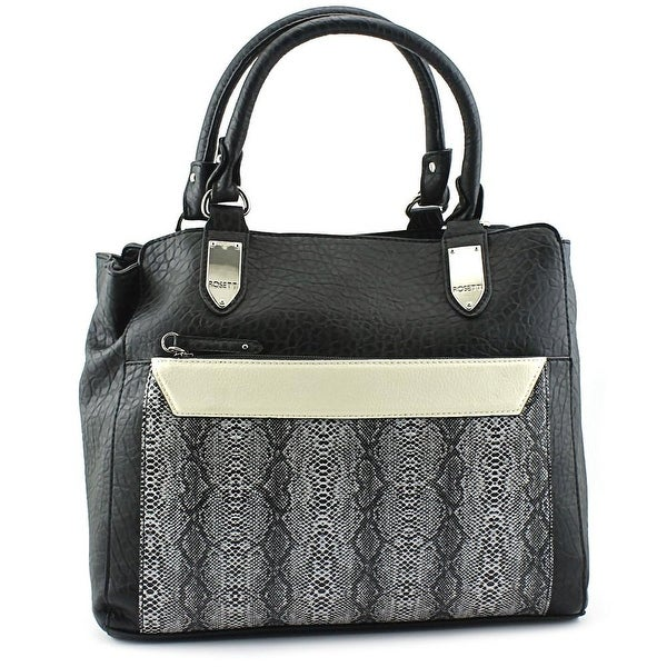 Rosetti Cameron Double Handle Women Synthetic Satchel - Black
