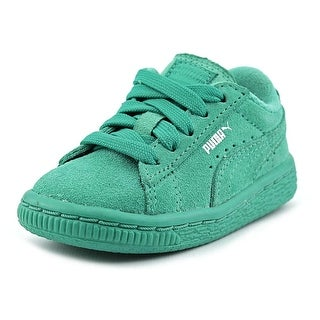 Puma Suede Kids Round Toe Suede Sneakers