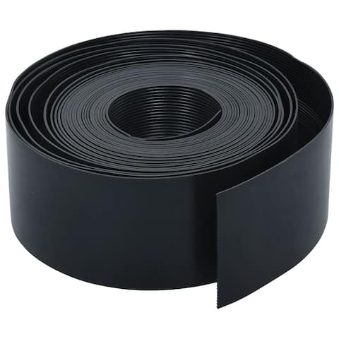 "vidaXL Garden Edging Black 393.7"" 3.9"" PE"
