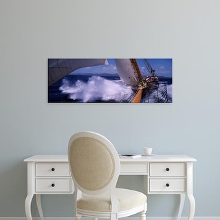 Easy Art Prints Panoramic Images's 'Sailboat in the sea, Antigua, Antigua and Barbuda' Premium Canvas Art