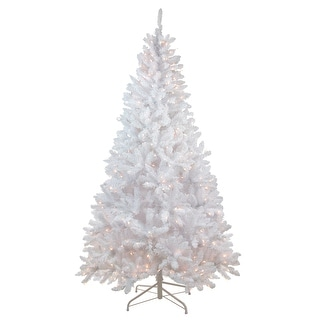 Slim Flocked Christmas Tree With Lights.7 Snow White Pre Lit Flocked Slim Artificial Christmas Tree Clear Lights Overstock Com Shopping The Best Deals On Christmas Home Decorations