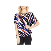 Vince Camuto Womens Blouse Printed Dolman Sleeve
