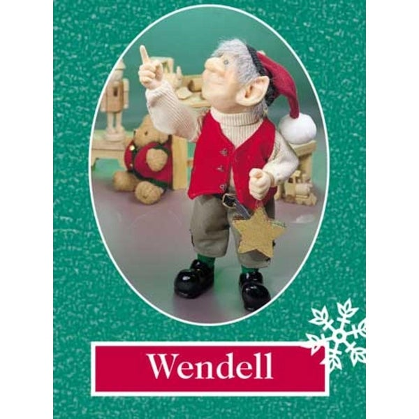 """11.5"""" Zims The Elves Themselves Wendell Collectible Christmas Elf Figure"""