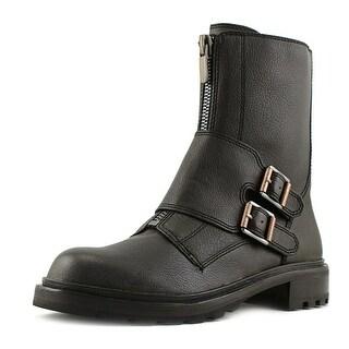 Calvin Klein Jeans Suzetta Women   Leather Gray Motorcycle Boot