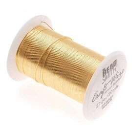 Beadsmith Tarnish Resistant Gold Color Copper Wire 22 Gauge 20 Yards (18.2 Meters)