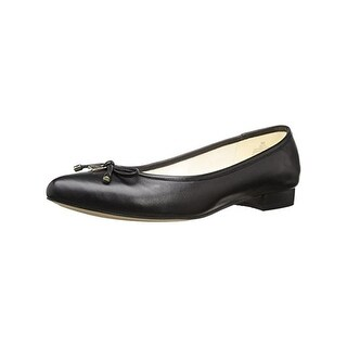 Anne Klein Womens Ovi Pointy-Toe Flats Bow