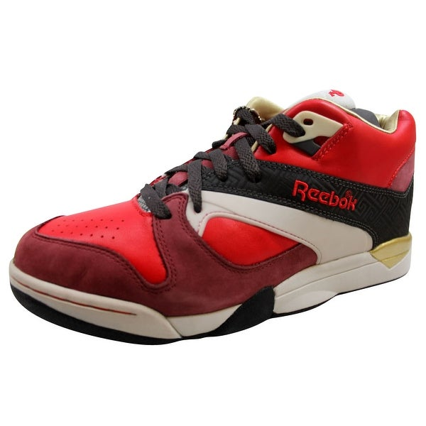 Reebok Men's Court Victory Pump DES Red/Red-Charcoal-Grey-Gold-Black 6-163075