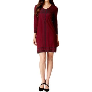 Studio M Womens Cocktail Dress Patten Applique