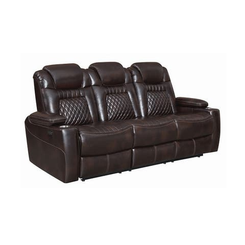 Sondra Upholstered Pillow Top Arm Power^2 Sofa