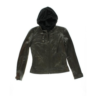 Marc New York Womens Leather 2-in-1 Motorcycle Jacket - XS