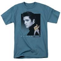 Elvis Presley Blue Rocker Mens Short Sleeve Shirt
